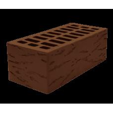 Облицовочный кирпич, полуторный, коричневый, РУСТ. Белкерамик
