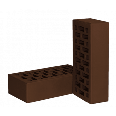Лицевой кирпич, «НЗКМ», одинарный, цвет шоколад