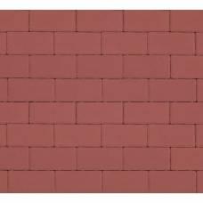 Тротуарная плитка «Брусчатка», Прямоугольник, 40 мм, Красная
