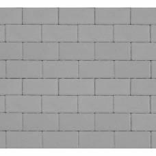 Тротуарная плитка «Брусчатка», Прямоугольник, 40 мм, Серая