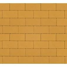 Тротуарная плитка «Брусчатка», Прямоугольник, 40 мм, Желтая